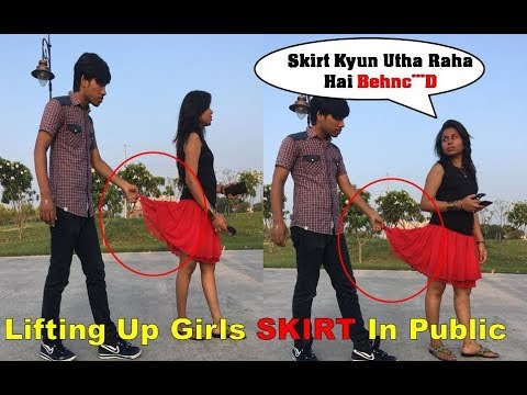 'Lifting Up Girls Skirt In Public ' Prank In INDIA 2017 II Amazing Reactions II Lucknow Youtuber