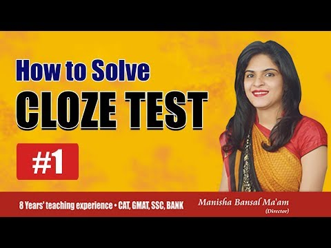 How to Solve Cloze Test by an easy approach For SSC, BANK by Manisha Bansal Ma'am