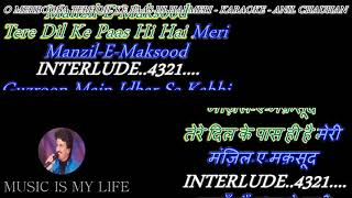O Mehbooba Tere Dil Ke Paas - Karaoke With Scrolling Lyrics Eng. & हिंदी