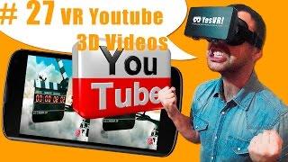 #27 Как смотреть VR видео виртуальной реальности на YouTube: приложение VR Youtube 3D Videos(Как смотреть ролики на YouTube в режиме виртуальной реальности с помощью очков виртуальной реальности? По..., 2015-09-21T19:34:12.000Z)