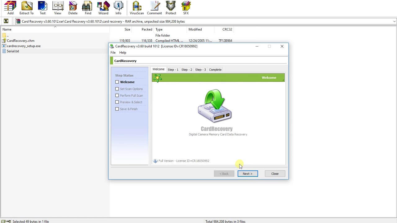 recover keys serial number download