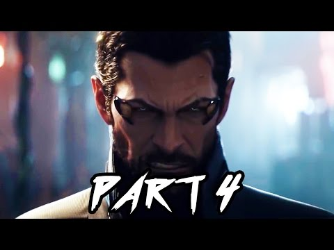 Deus Ex Mankind Divided Gameplay Walkthrough Part 4 - WEAPONS TEST!! - FULL GAME (PS4 1080p)