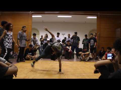 BGirl Magrela vs BBoy Rap Man 1º Encontro de Hip Hop Formação e Cypher