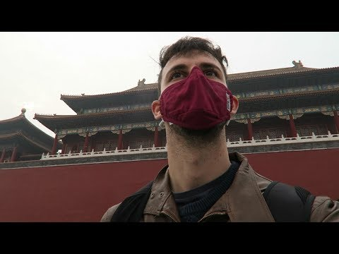 Forbidden City in Beijing (China) - Polluted and foggy day