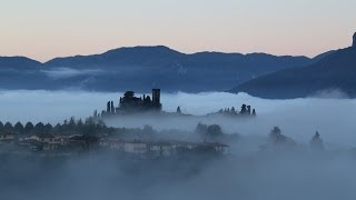 10 Apennine Mountains and Apuan Alps, Misty Barga at dawn from Il Benefizio