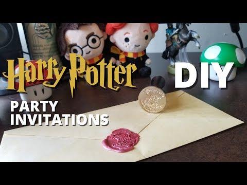 DIY Harry Potter Party Invitations! - MUGGLE MAGIC