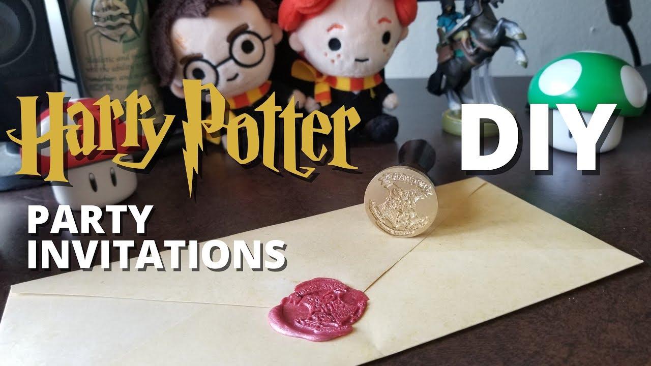 DIY Harry Potter Party Invitations! - MUGGLE MAGIC - YouTube