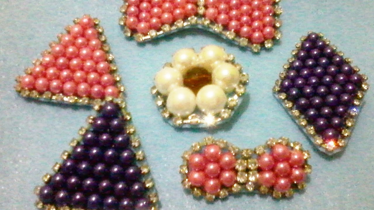 Easy Way How To Make Brooches And Pin From Beads