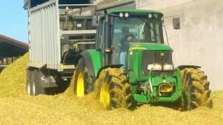 Kiszonka z kukurydzy 2013! Wpadka Claas Jaguar! Ensilage de Maïs 2013! HD! John Deere, New Holland.