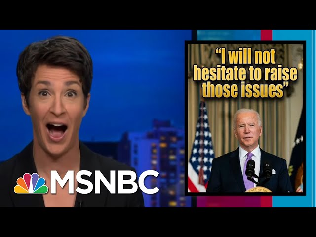 Biden Admin Re-Engages Government With Public, Press After Trump Disconnect | Rachel Maddow | MSNBC