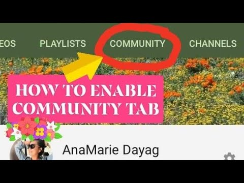 #Vlog39 HOW TO ENABLE AND ADD COMMUNITY TAB TO YOUR CHANNEL 😍