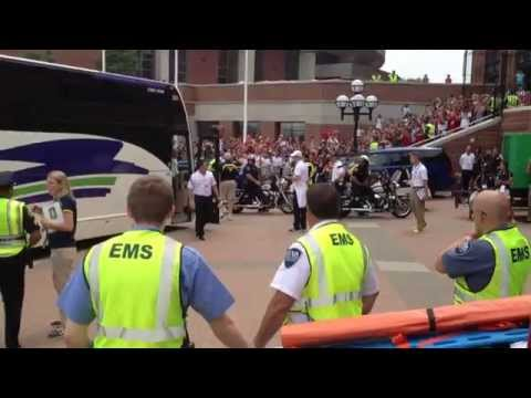 Real Madrid Players Arriving In Ann Arbor Michigan