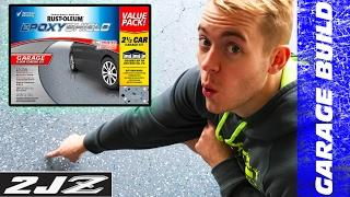 How To Epoxy Coat Garage Floor! | 🛠  Dream Garage Build!