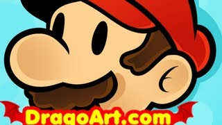 How to Draw Mario Easy, Super Mario, Step by Step
