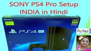 Sony PS4 Pro Setup for beginners in Hindi INDIA