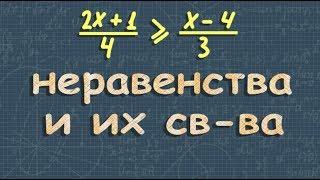 алгебра ЛИНЕЙНОЕ НЕРАВЕНСТВО с одной переменной