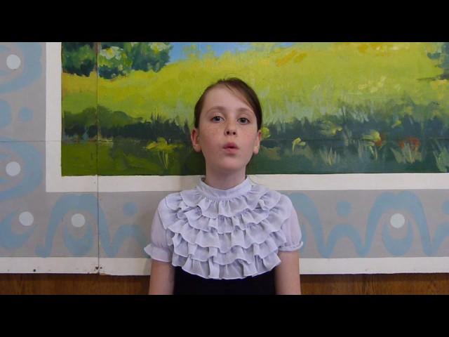Изображение предпросмотра прочтения – СофьяБозрикова читает произведение «Когда волнуется желтеющая нива…» М.Ю.Лермонтова