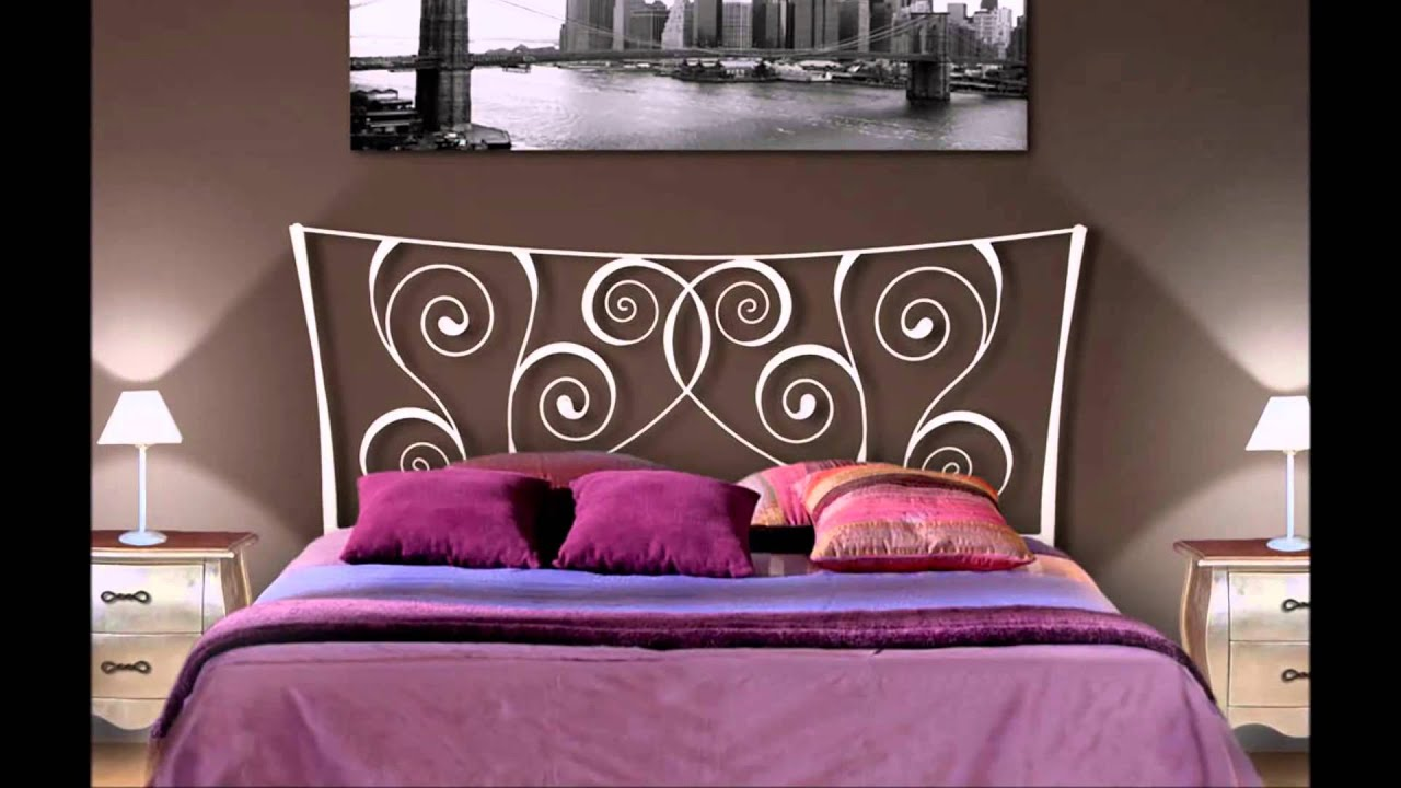 t tes de lit en fer forg id es pour la d coration des chambres youtube. Black Bedroom Furniture Sets. Home Design Ideas