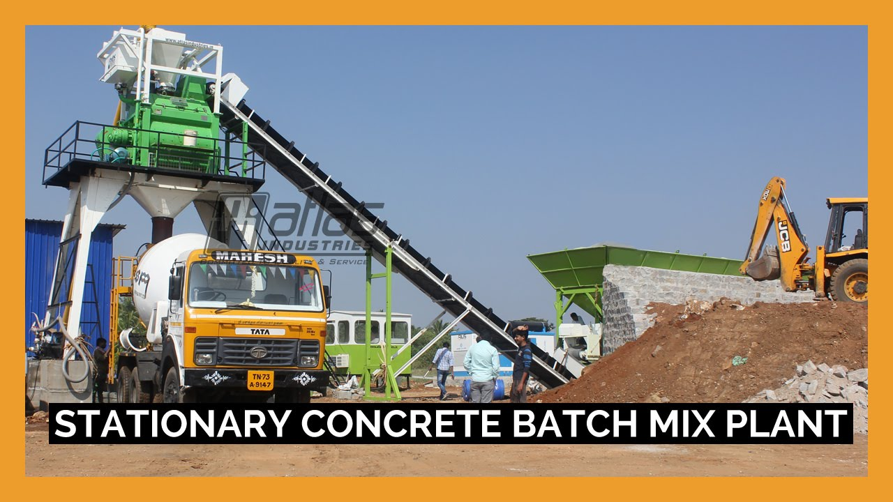 Closed Plants Concrete : Batching plant concrete mixing india youtube