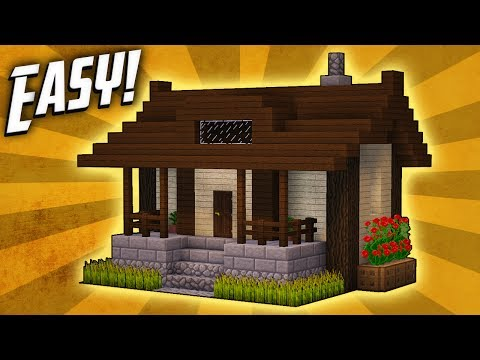 Minecraft How To Build Small Survival House Tutorial