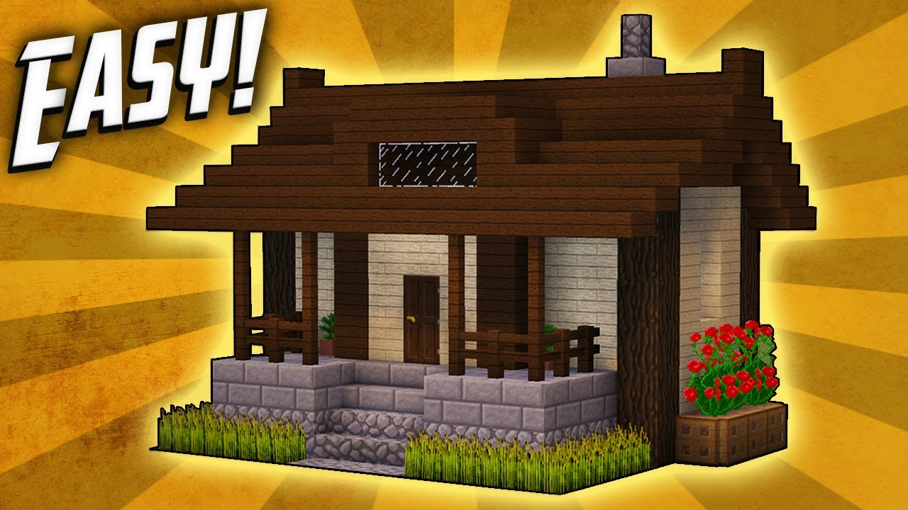 Minecraft how to build a small survival house tutorial for How to build a small home