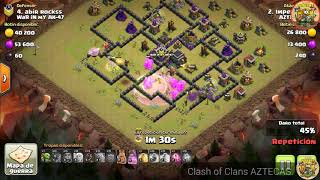 Clash of Clans - AZTECAS - Imperius QW+GoBoHog en Guerra.