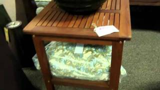 Wood Chesapeake Outdoor Patio Side Table