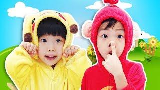 Head Shoulders Knees And Toes Song   교육으로 동요와 아기의 노래를 Mainan dan lagu anak-anak