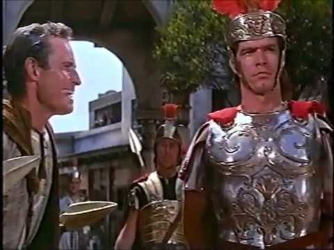 ARRIVAL OF GRATUS & THE ARREST, BEN HUR MOVIE 1959 Stephen Boyd
