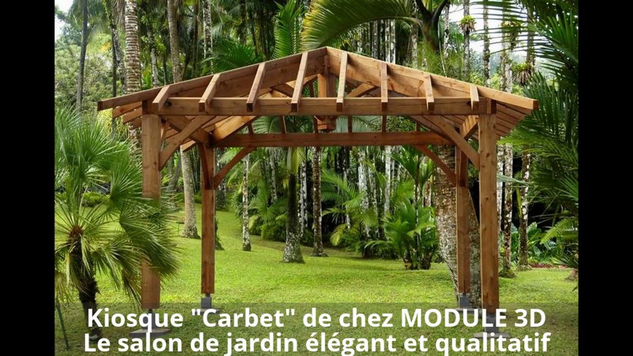 Kiosque Carbet de MODULE 3D  YouTube