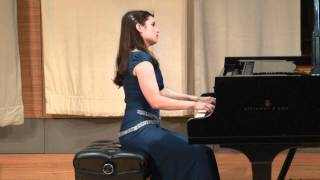 Jacquelyn Weitz plays Scarlatti Sonata L. s6, K. 298 in D major