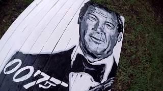 Bond.   James Bond.  Tribute Art.   Roger Moore.
