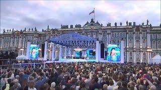 #829 Россия Санкт Петербург День города Концерт на Дворцовой площади
