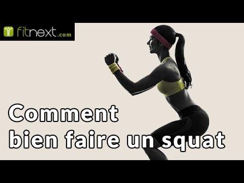 Comment bien faire un squat? - Fitnext.com - YouTube