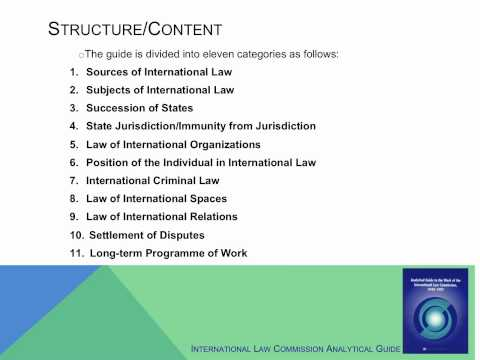 Using the U.N. Internation Law Commission Analytical Guide