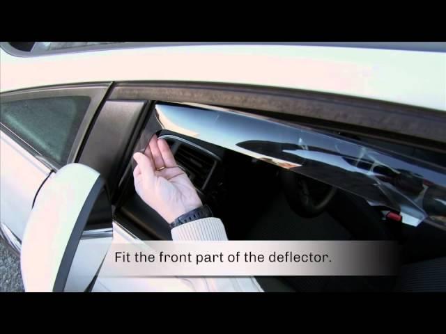FARAD wind deflectors on Ford C-Max - YouTube