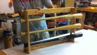 Stagg Sports Locking Horizontal Baseball Bat Rack