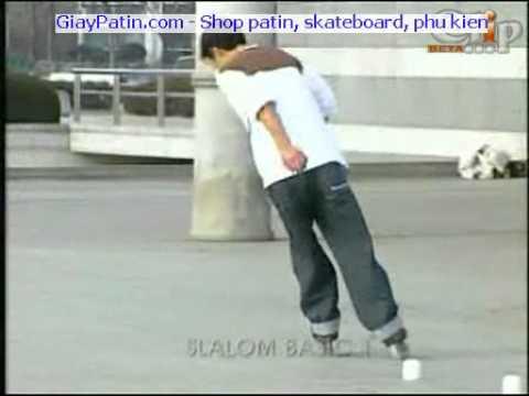 Ky thuat truot patin Slalom co ban GiayPatin.com