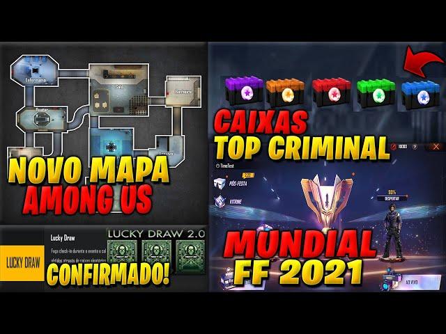 VAZOU NOVO MAPA, LUCKY DRAW, CAIXAS DO TOP CRIMINAL, EVENTO DO MUNDIAL E MUITO MAIS!