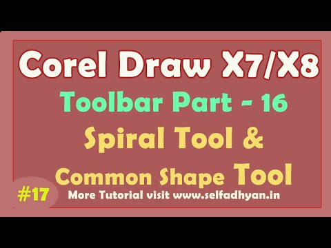 Spiral Tool and Common Shape in CorelDraw 2019 - Learn CorelDraw 2019 Tools Tutorial in Hindi -