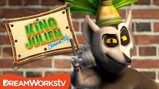 Lies In Fancy Wrapping Paper | KING JULIEN STAND UP