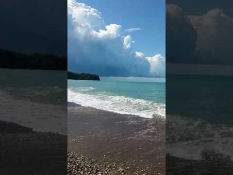Смерч.видео с пляжа в п. Новомихайловский