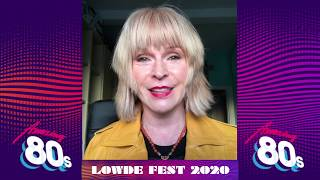 A message from Toyah and the Amazing 80s Lowde Fest 2020