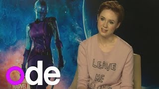 Karen Gillan talks fighting and shaving off her hair for Guardians of the Galaxy