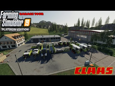 'CLAAS DLC GARAGE TOUR!' Farming Simulator 19 Platinum Edition |