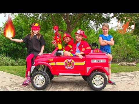 New Sky Kids Super Episode 5 - The Fire Engine, Fire Water & Superhero Horse Head Mission
