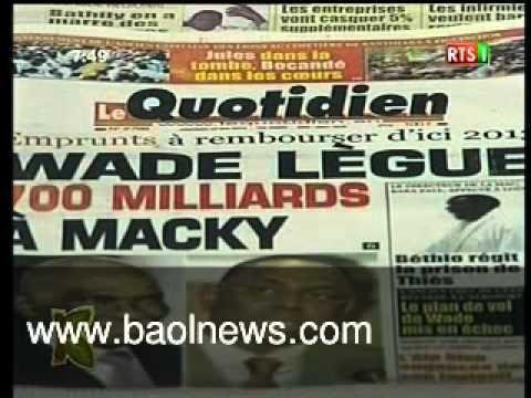 Revue de presse Sénégal
