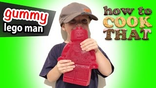 How to make GIANT GUMMY BEAR LEGO MAN, How To Cook That