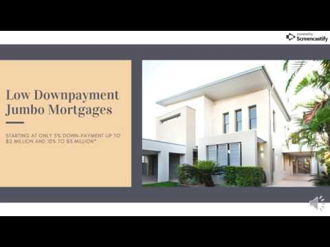 5% downpayment Jumbo Mortgage - Low Down Jumbo Loan