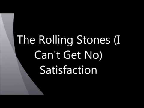Vocals - The Rolling Stones : I Can't Get No Satisfaction